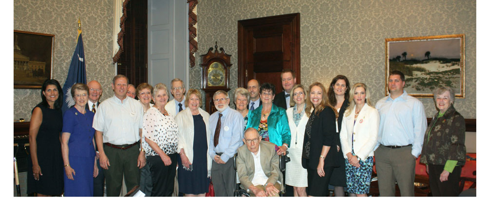 Members of SC Parkinson's Community meet with SC Governor Nikki Haley for April 24, 2014 Parkinson's Awareness event.