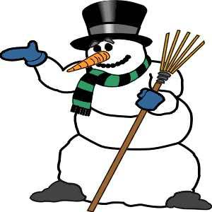 Cartoon of Frosty the Snowman